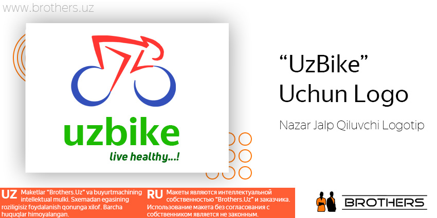 «UzBike» Start-Up ga Logotip va Firma Dizayni